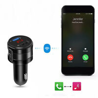 Wireless Bluetooth Car FM Transmitter Music Player AUX Radio USB Charger Ports