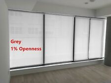 """Roller Shade 1% Openness """"Chalk"""" Color  Blind Home Window Custom Made In Canada"""