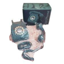 Wild Wood 746 Rotary Design Retro Landline Telephone Biscay Blue