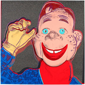 Howdy Doody from Myths 1981 by Andy Warhol 54cm x 54cm Canvas Art Print