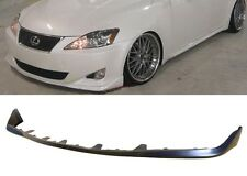 06-08 LEXUS IS250 IS350 OE STYLE GROUND EFFECT PU BLACK POLY FRONT BUMPER LIP