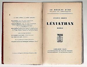 Petite rareté > Julien GREEN Léviathan. E.O. num s/alfa 1920