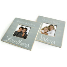 Personalized Brothers Picture Frame, Custom Sisters Photo Frame Rustic Gift