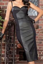 Stop Staring Vega Dress L 12 14 black wiggle pencil goth retro PinUp 40s 50s
