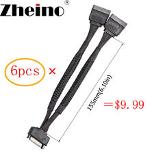 Zheino 15Pin Sata Male To 2 Sata Female Splitter Y Cable For HDD Extension Power