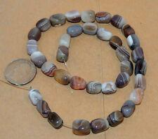 Botswana Agate 12x8mm Tubes Gemstone Beads (13392)