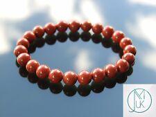 Red Jasper Natural Gemstone Bracelet 6-9'' Elasticated Healing Stone Chakra