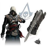Assassin's Creed 4 Flag Pirate Costume Hidden Blade Edward Kenway Gauntlet Movie