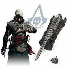 HOT Assassin's Creed 4 Flag Pirate Cosplay Hidden Blade Edward Kenway Gauntlet