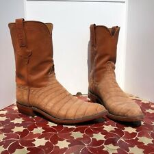 """DR LAURA COLLECTION - Lucchese Mens Cowboy Boots Crocodile sz 10.5 10"""""""