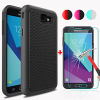 For Samsung Galaxy J7 Prime/Sky Pro/J7 V/Perx Case Cover+Glass Screen Protector