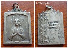 Oude heiligenmedaille uit Oostakker Lourdes