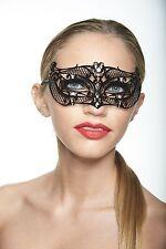 Elegant Black Venetian Laser Cut Masquerade Mask BD007BK Mardi Gras Prom
