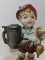 Vintage Ceramic Occupied Japan  Porcelain Figurine Hummel inspired 6 inch Rare
