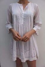 Vestiti da donna maniche a 3/4 tunica di cotone