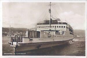 ITALY Messina ferryboat Scilla RPPC 1940s