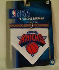 "Medium Pet Collar Bandana NBA New York Knicks Basketball Dog Cats 12""-18"" - NEW"