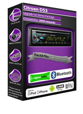 Citroen DS3 DAB radio, Pioneer car stereo CD USB player, Bluetooth kit