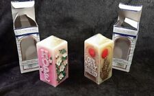 HOPE & OUR DAILY BREAD Jasco Expressions Vintage Painted Candles NIP