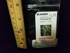 1:24 scale Dollhouse Miniature ~ Bloomin Easy Flower Kit PURPLE CLEMATIS  NIP