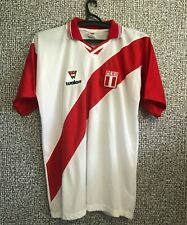 Peru Soccer National Team Vintage Football Shirt Jersey Maglia Camiseta Mens L