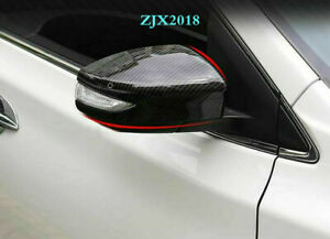 FIT For Nissan Maxima 2016-2020 Carbon Fiber Style Rearview Mirrors Cover Trim