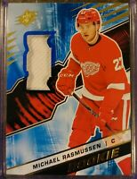 Michael Rasmussen Rookie RC Materials 2018-19 Upper Deck SPX  Detroit Red Wings