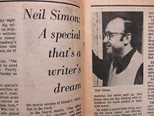 Nov. 11-1972 Chicago Daily News TV News Magazine (NEIL   SIMON/ALISTAIR   COOKE)