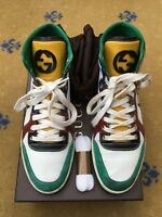 Gucci Mens Trainer Multi Leather Suede Snakeskin High Tops Shoes UK 6 US 7 EU 40