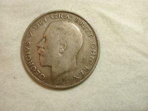 Great Britain 1921 World Coin Half Crown KM #818.1a ASW .2273 /VF