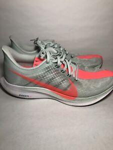 Nike Zoom Pegasus 35 Turbo Wolf Grey Hot Punch Men Running Shoes Size 10
