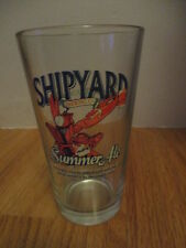 "THE SHIPYARD BREWING CO - Portland, Maine SUMMER ALE 6"" Beer Glass LOBSTER Chair"