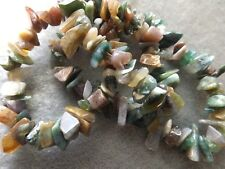 piezas Cortada A Mano Piedras Preciosas Fabricación de Joyas AVENTURINA Chip Cuentas 5-8mm Naranja 240