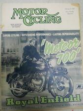 Motor Cycling Magazine, Feb 11, 1954, Royal Enfield Meteor 700,   red box