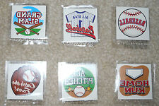 Lot of 12 Baseball temporary children's tattoos birthday party favor goody bags