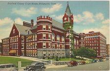 Fairfield County Court House Bridgeport Ct Postcard