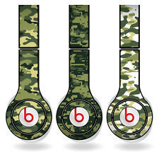 Removable Vinyl Decal - Beats Solo HD Skins - Green Camouflage Print Set of 3