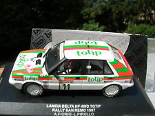 IXO models 1/43 LANCIA DELTA HF 4WD TOTIP 11 RALLY SAN REMO 1987 Fiorio/Pirollo