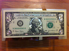 ONE SILVER HOLOGRAM  DOLLAR BILL -COLORIZED LEGAL FEDERAL NOTE, GIFT CURRENCY.
