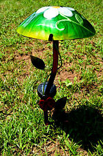 Ladybug Solar Mushroom Stake glass outdoor yard lighting