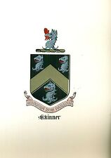 Great Coat of Arms Skinner Family Crest genealogy, would look great framed!