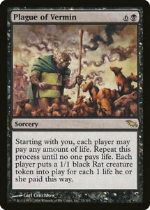 1X FOIL Plague of Vermin MTG Magic SHADOWMOOR 73/301