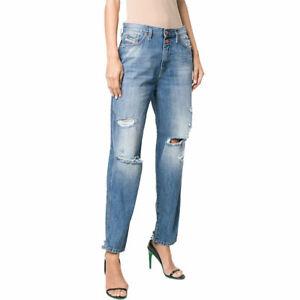 DIESEL ALYS 084ZE Womens Jeans Denim Regular Straight Regular Waist Fit Pants