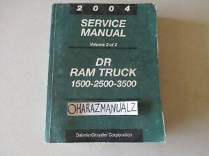 2004 Dodge Ram Truck 1500 2500 3500 Service Manual OEM VOLUME 2 ONLY!