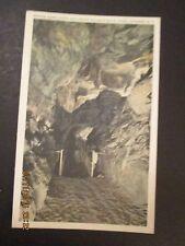 OLD POST CARD BRIDGE OVER CHASM AND BALANCE ROCK , HOWE CAVERNS N.Y. UNUSED EXC.