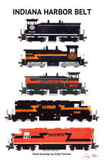 "Indiana Harbor Belt Locomotives 11""x17"" Poster by Andy Fletcher signed"