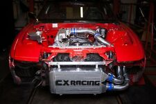 "CXRacing 25""x11""x3"" FMIC Intercooler Kit + BOV For S13 S14 240SX RB20/RB25DET"