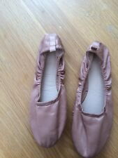 M & S Girls Pink Satin Bridal  Jazz  Dance Shoes Size UK 4 New