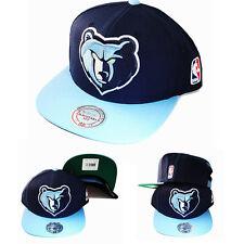 Mitchell & Ness NBA Memphis Grizzlies Snapback Hat Classic Logo 2Tone Color Cap