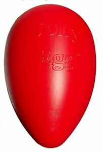 Jolly Pets Egg 8 inch Red | Hard Plastic Chew Toy for Small Dogs